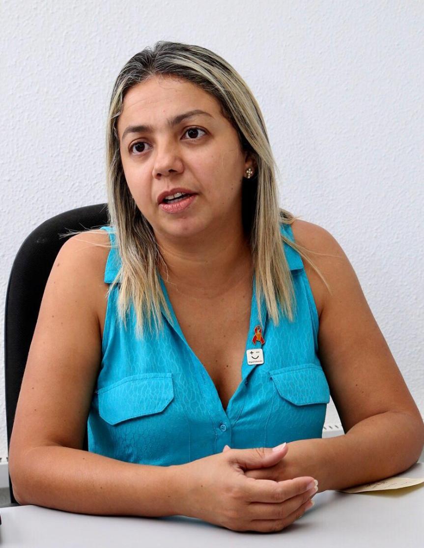 A coordenadora do Programa de ISTs da SMS, Débora Oliveira